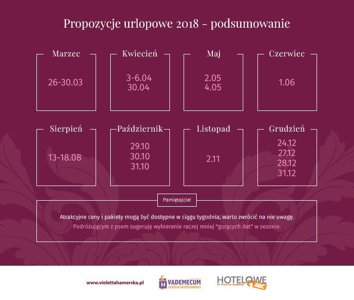 Podsumowanie propozycji urlopowych 2018 do pobrania